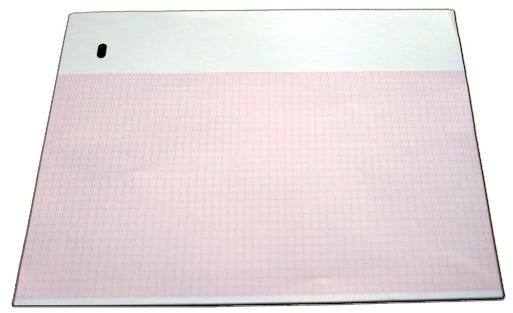 ECG Paper for Marquette - 9402-024 - 216mm X 280mm X 300 Sheets, Z-fold (10)