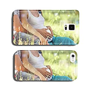 man and a pregnant woman happy nature cell phone cover case iPhone6