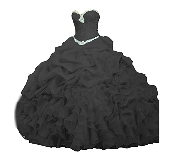 b0e79bb5b3 ANGELA Women's Ball Gown Organza Quinceanera Dresses Prom Gowns