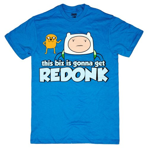 Adventure Time With Finn And Jake Biz Redonk Officially Licensed Adult T-shirt 2XL