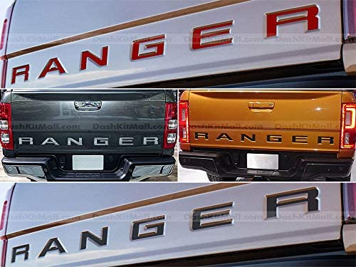 SF s USA - Black Tailgate Letters for Ranger 2019-Up Rear Inserts Not Decals