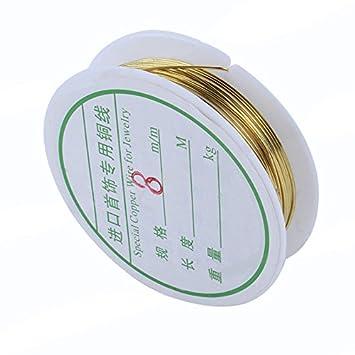 1 Rolle Kupfer Handwerk Bead Schmuck Gold Draht 0,8mm: Amazon.de ...