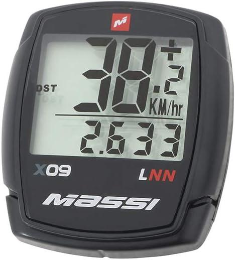 Massi x09 Cuenta kilómetros Bicicletas, Unisex Adulto, Negro ...