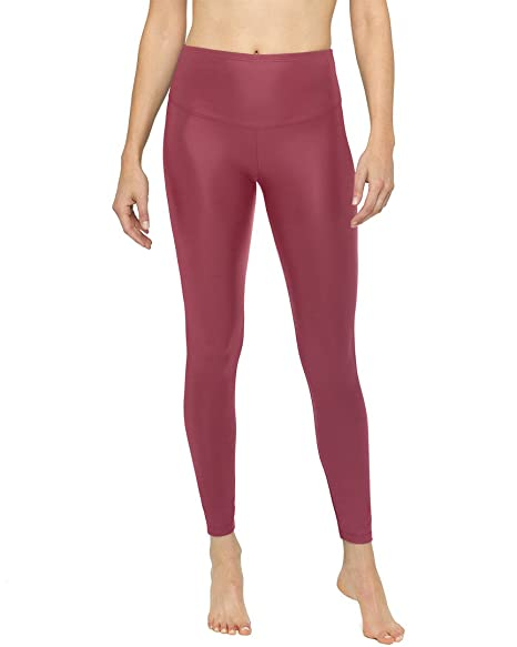 f6422a35102123 Image Unavailable. Image not available for. Color: Yummie Women's Tony Faux  Leather Leggings Cabernet Large