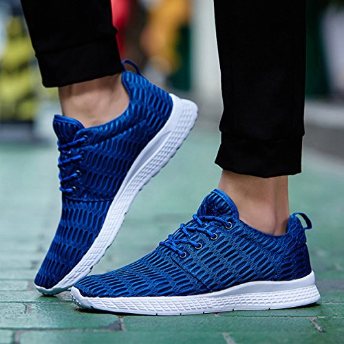 Mens Womens Running Breathable Athletic Mesh Casual Sneakers Shoes Blue for Jeneet Uw8qzOR