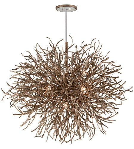 (Pendants 12 Light with Distressed Bronze Finish Hand-Worked Iron Material Candelabra 39 inch Long 720 Watts)