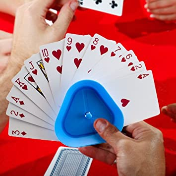 4pcs//set Triangle Shaped Hands-Free Playing Card Holder Board Game Poker Seat