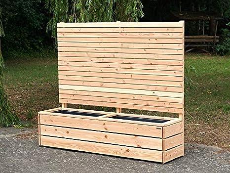 Jardinière en bois avec brise-vue intégré: Amazon.fr: Jardin