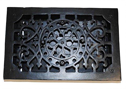 RECTANGULAR Cast Iron Floor Register Heat Grate antique REPLICA louvered - Louvered Register Cast Iron