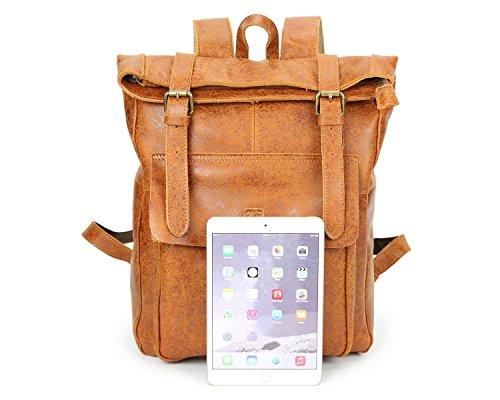 Flashpoint First Ying De Neutral Para Bolsas Brass Mochila Leather Layer Hombres Viaje Bags rAwzctqA