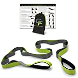 #10: Gradient Fitness Stretching Strap, Premium Quality Multi-loop Strap, Neoprene Padded Handles, 12 Loops, 1.5