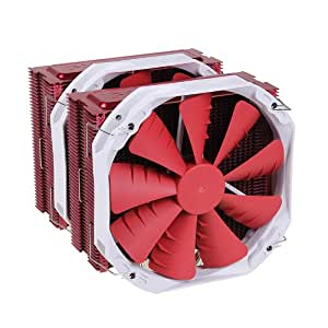 PHANTEKS PH-TC14PE_RD 5 x ?8mm Dual Heat-Pipes, Dual 140mm Premium Fans, Quiet CPU Cooler with Patented P.A.T.S Coating
