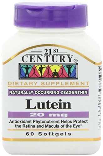 21st Century Lutein 20 Mg Softgels, 60-Count Pack of 12 by 21st Century
