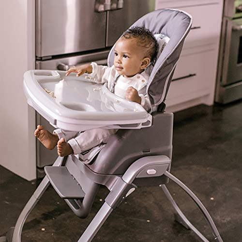 Ingenuity SmartServe 4-in-1 High Chair with Swing Out Tray – Clayton – High Chair, Toddler Chair, and Booster by Ingenuity (Image #8)
