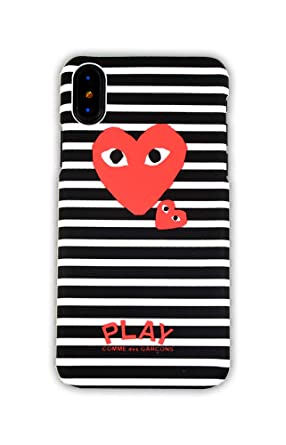 9bc07687d51a5 Amazon.com: Comme des Garcons Striped Pattern Heart Logo iPhone X ...