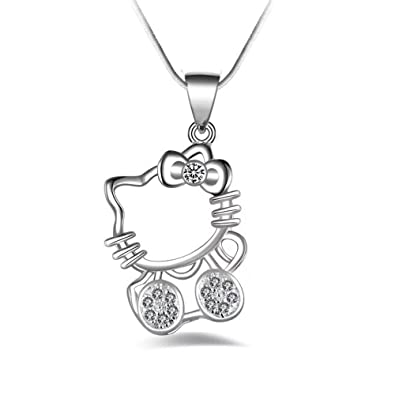 Amazon angel dream hello kitty pendant necklace cute cat angel dream hello kitty pendant necklace cute cat pendant necklace white aloadofball Image collections