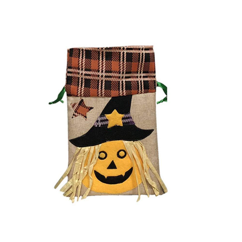 Isuper 1 PCS Sac fourretout Halloween Décoration de Pâques Sac fourretout Festival pour Enfants de Sucrerie saccadeau (Citrouille)