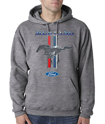 Ford Mustang Logo Cobra GT 500 Cars Hot Rides Snake Pullover Hoodie S-3XL - Oxford - L