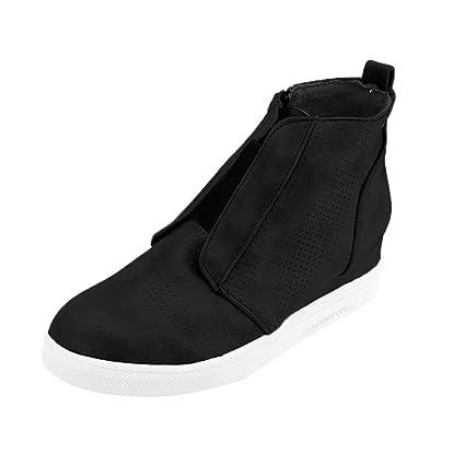 6c4f1e2fda4d Amazon.com  SUKEQ Women s Wedge Sneakers