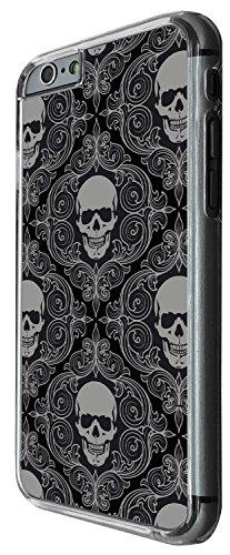 1560 - Fashion Fun Multi Sugar Skull Skulls Design iphone 5 5S Coque Fashion Trend Case Coque Protection Cover plastique et métal - Clear