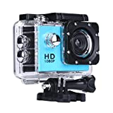 Creazy Mini Waterproof Sports Recorder Car DV Action Camera Camcorder 1080P HD (Blue)