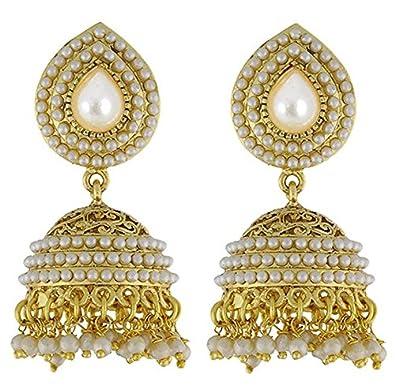 youbella jewellery gold plated jhumki earrings for women