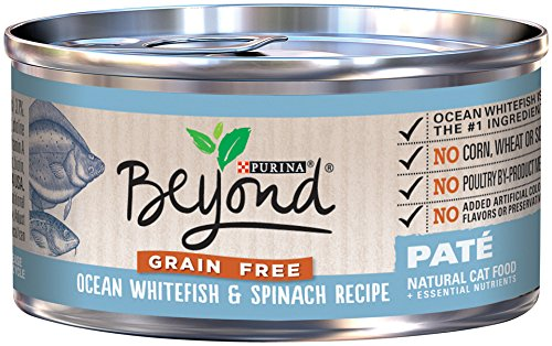 Fish Canned Food (Purina Beyond Natural Canned Cat Food, Grain Free Ocean Whitefish and Spinach Recipe, 3-Ounce Can, Pack of 12)