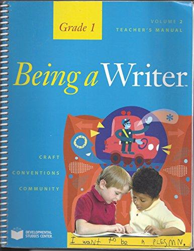 Being a Writer, Teacher's Manual, Volume 2