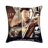 Sherlock Holmes Playing Violin 221B Pillow Cushion