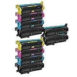 10 Inkfirst® Toner Cartridges CF360X CF361X CF362X CF363X (CF360A CF361X CF362X CF363X) Compatible Remanufactured for HP Color LaserJet Enterprise M553x M577dn M577f M552dn M553dn M553n(2 Set + 2 BK)