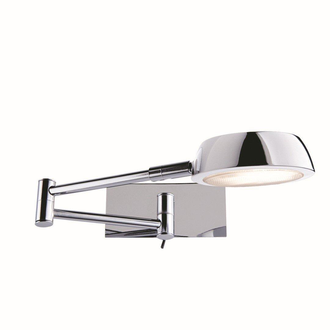 Wandleuchte in Chrom Bauhaus Design 1xGX53 bis zu 9 Watt aus Metall & Schlafzimmer Küche Wohnzimmer Esszimmer Lampe Leuchten innen Beleuchtung