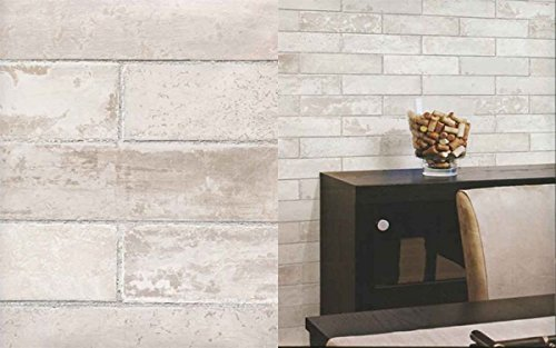 Galerie Illusions Feature Wallpaper Brick Effect Neutral LL29532