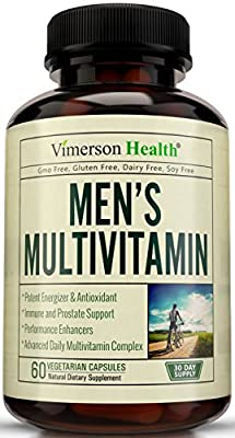 Men's Multivitamin with Zinc + Selenium + Vitamins A C D E + B1 B2 B3 B5 B6 B12 + Spirulina + Calcium + Lutein + Magnesium + Saw Palmetto + Green Tea + Biotin. Natural Non-Gmo Multivitamins for Men
