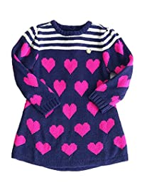 Little Girls Sweater Top Love Heart Valentine's Day Dresses