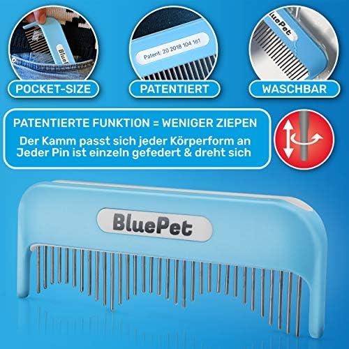 BluePet® Peigne Magique pour Chat - pour Poils Longs - Élimine Les nœuds - Peigne pour Chien - Peut également être utilisé comme Brosse pour Chat - Brosse pour Chien et Chat