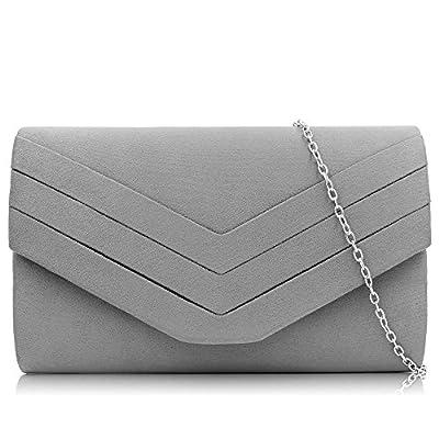 Milisente Women Clutches Velvet Evenlope Evening Bag Classic Clutch Purse