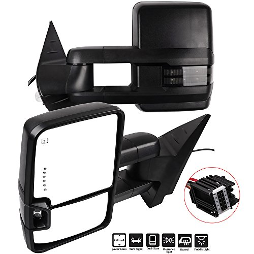 Find Bargain ECCPP Towing Mirrors A Pair of Exterior Automotive Mirrors Replacement fit for Chevy GM...