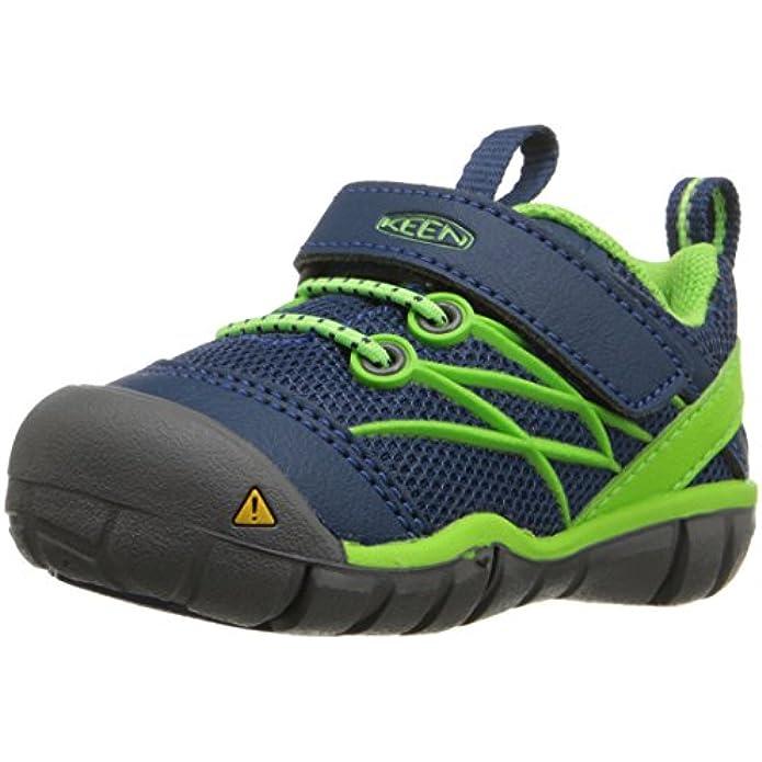 KEEN Unisex-Kid's Chandler CNX Casual Shoe, Poseidon/Jasmine Green