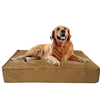 Wisita Orthopedic Large Dog Bed, Waterproof Dog Sofa with 7.8\'\' Thick  Mattress High-Density Sponge, Removable Cover for Medium and Large  Dogs(Trendy)
