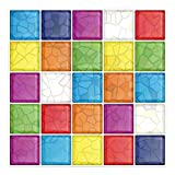 Cocotik 10''x10'' Anti-mold Peel and Stick 3D Wall Tile in Colorful - Pack of 6