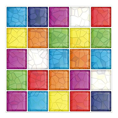 3D Kitchen Backsplash Wall Tile Vinyl Wall Sticker, 10
