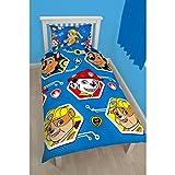 Paw Patrol Childrens/Kids Rescue Reversible Single Duvet Cover Bedding Set (Twin) (Blue)