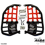 Honda TRX 450R (2004-2009) Propeg Nerf Bars Black Bars w/ Red Net