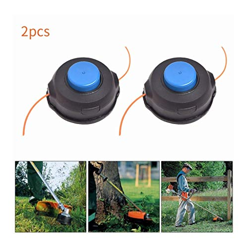 Iusun Lawn Mower Weed Trimmer Head 4Pcs T25 String Auto for Husqvarna Line 966674401 Sharpener Power Lawnmower for Garden Grass Never Damage Vase Trees Furniture (C) ()
