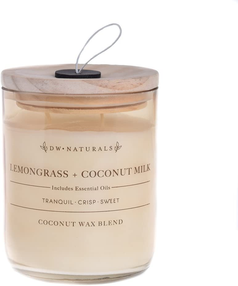 DW Home Naturals Lemongrass & Coconut Milk 2 Wick Candle 17 oz