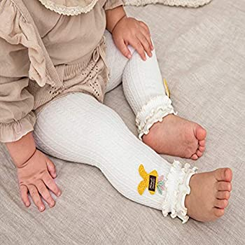 3-5 Years, 5PCS Black+White+Gray+Pink+Yellow 6 Pack Toddler Baby Cable Knit Ankle Leggings Pants Footless Winter Tight Stockings for Girls