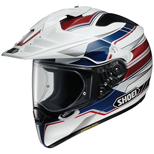 Shoei HTX2NAVGT 2 4 SNL unisex-adult full-face-helmet-style Hornet X2 Navigate Tc-2 Helmet (Red/White/Blue, Large), 1 Pack