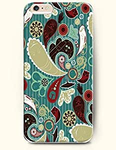 SevenArc Apple iPhone 6 Plus 5.5' 5.5 Inches Case Paisley Pattern ( Multicolored Twisted Teardrop in Teal Background...