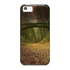 Iphone 5c Cases Covers Bridge Over A Gultch Deep In The Forest Cases - Eco-friendly Packaging