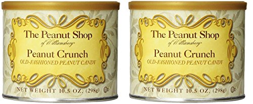 The Peanut Shop of Williamsburg Peanut Crunch, 10.5-Ounce Tins (Pack of 2) Peanut Brittle Tin